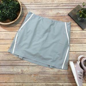 Size 10 Adidas Gray Athletic Skorts Tennis Skirt